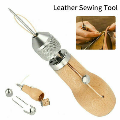 1 Kit Stiching Speedy Stitcher Sewing Awl Needle Tool for Leather Sail & Canvas