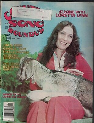 Country Song Roundup July 1976 Loretta Lynn Charlie Rich Jim Glaser