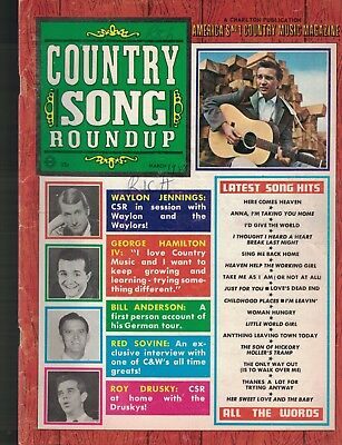 Country Song Roundup March 1968 Waylon Jennings Red Sovine Roy Drusky