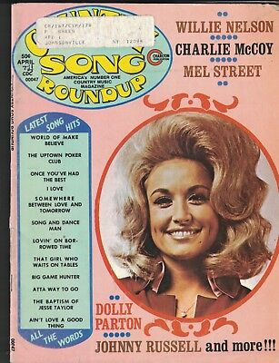 Country Song Roundup April 1974 Willie Nelson Dolly Parton Charlie McCoy