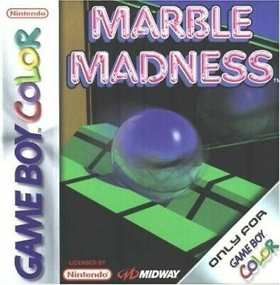 Nintendo GameBoy Color game - Marble Madness cartridge