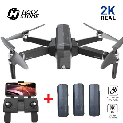Holy Stone DE22 RC Drone with HD Camera 2K Brushless 5G GPS Quadcopter 3 Battery