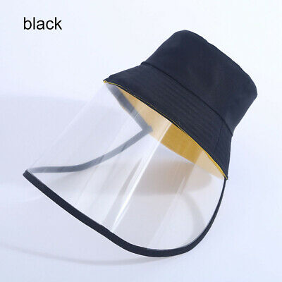 Anti-spitting Protective Cap Full Face Shield Reusable Washable Cover Face Mask