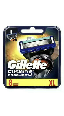 Gillette Fusion 5 Proglide XL Blades Pack Of 8 Cartridges Brand New Genuine New