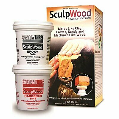 System Three 1-Quart SculpWood Moldable Epoxy Putty 90301