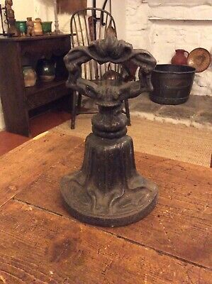 Antique Art Nouveau Kenrick & Sons Cast Iron Door stop 466 with Original Paint