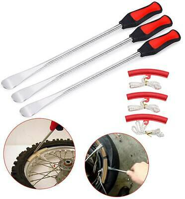 Tire Spoon Lever Iron Tool Motorcycle Bike Tire Change Changer Kit w/Case 6Pack