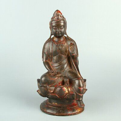 Chinese Exquisite Handmade Buddha copper statue w