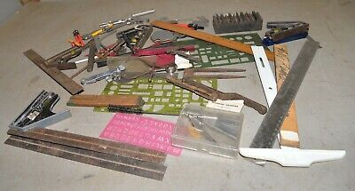 Vintage machinist drafting tools collectible lay out & inspection lot