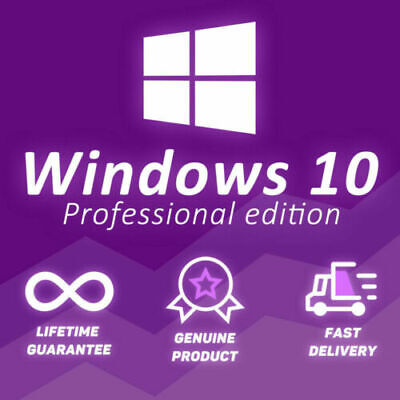 Windows 10 Pro Professional 🔑 Genuine License Key 🔑 Fast Delivery Worldwide