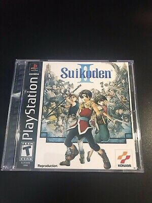 Suikoden II Reproduction Case ONLY- PS1 RPG