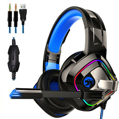 HD Mic Gaming Headset Wired Headphones For Nintendo Switch, PS4 Xbox One & PC