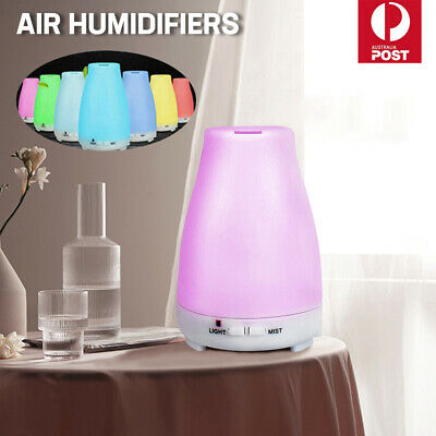 LED Diffuser Essential Oil Humidifier Ultrasonic Aroma Aromatherapy Air Purifier