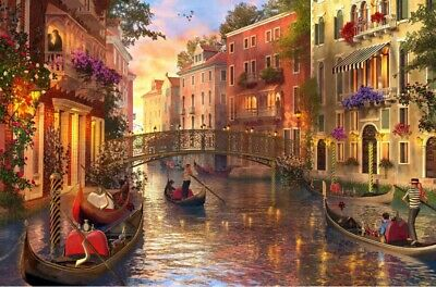 """Jigsaw Puzzle 1500 Pieces Gold Edition """"Sunset In Venice"""" by Wuundentoy"""