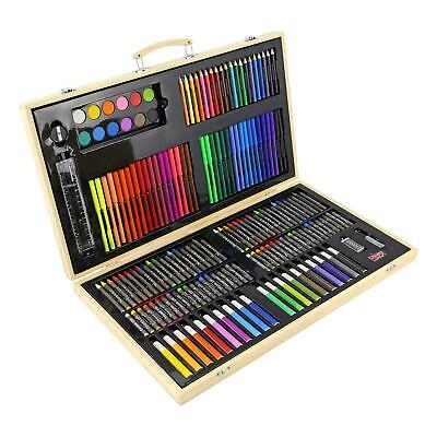 180 Pcs Art Set Childrens/Kids Colouring Drawing Painting Arts & Crafts Case