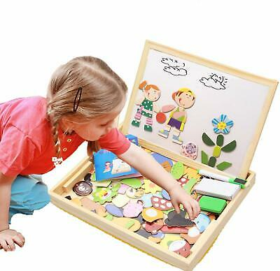 Educational Wooden Toys for Girls Boys Kids Children Toddlers Magnetic Drawing B