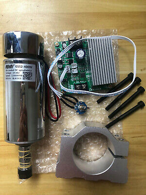 CNC Air Cooled 0.4KW Spindle Motor PWM+ROUTER Speed Controller+Motor Mount SALE