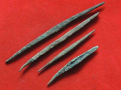 Ancient bronze celtic needles
