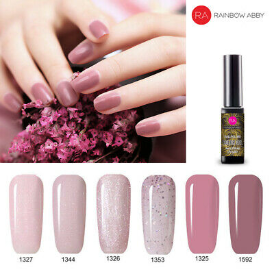 RA Nail Gel Polish Glitter Pink 1/4/6 Colors Set - UV/LED Soak Off Gel Polish AU