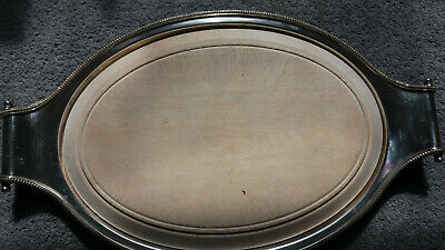 Vintage/antique silver plated bread board - cheese board - Romney plate