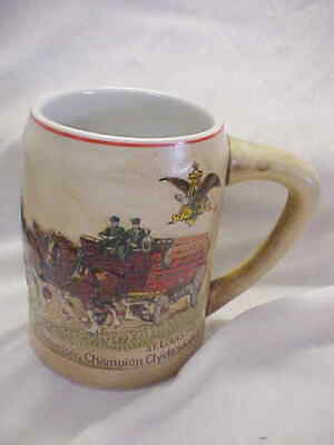 """1980 * Budweiser *  Clydesdale""""S - Red Cases * Beer Stein"""