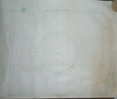 Vintage 1950 Navy Nautical Maritime Position Plotting Chart Sheet