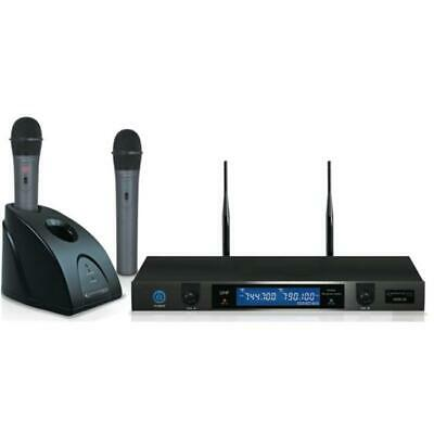 Technical Pro wmr20 Professional UHF Dual Rechargeable Wireless Microphone Sy...