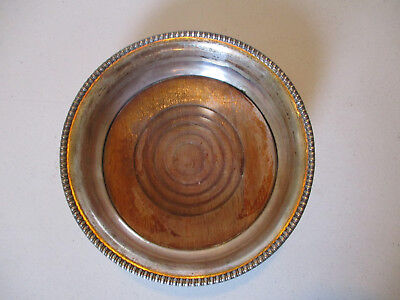 Antique Vintage Sheffield Silver Plate Wine Champagne Coaster Beaded Border!