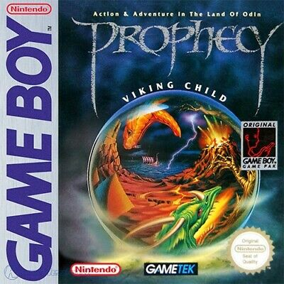 Nintendo GameBoy game - Prophecy: The Viking Child cartridge