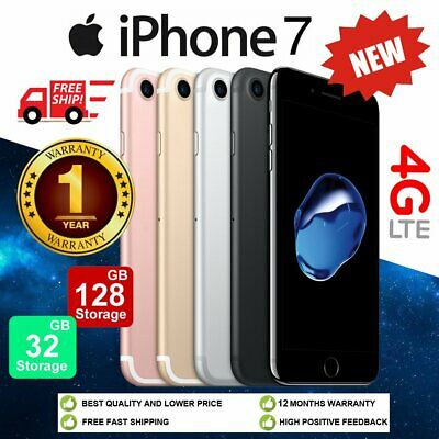 NEW Apple iPhone 7 32GB 128GB Factory Unlocked Smartphone Mobile Plus Gift UK