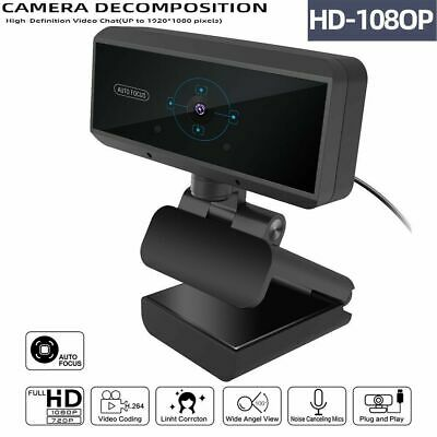 Auto-Focus Full HD 1080P Webcam Built-in Microphone Camera For PC Laptop Desktop
