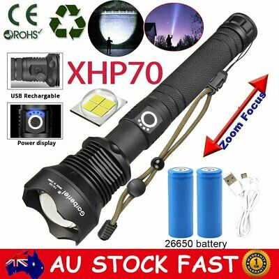 9900000Lumens Super Bright Tactical Flashlight Zoomable Rechargeable Torch Light