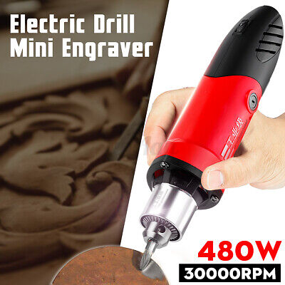 30000RPM 480W Electric Mini Drill Grinder Engraver Drilling Carving  @#%