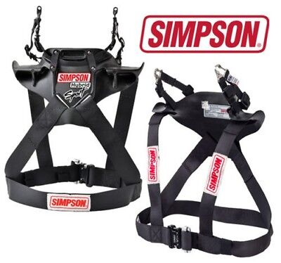 Simpson Hybrid Sport Frontal Head Restraint System Hans type Device FIA Approved