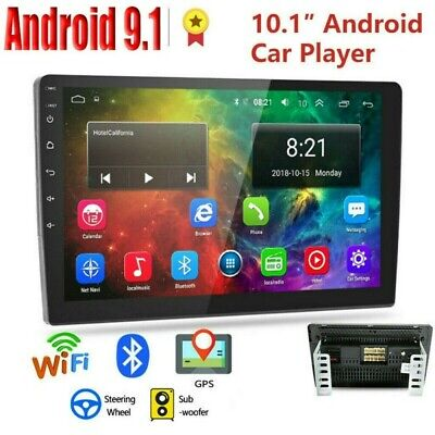 "10.1"" Android 9.1 Car Stereo Radio GPS Double 2Din Wifi Mirror Link MP5 Player"