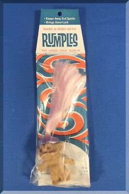 1960S Troll Doll Make A Wish With Rumples The Good Luck Goblin Nos Retro Package