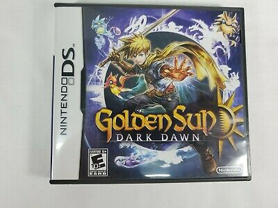 Golden Sun: Dark Dawn (Nintendo DS, 2010) COMPLETE with MANUAL and INSERTS