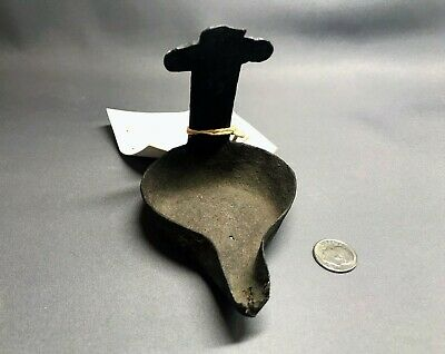 Late Byzantine / Medieval Iron Oil Lamp Holder with Cross, Purchased in 1930s