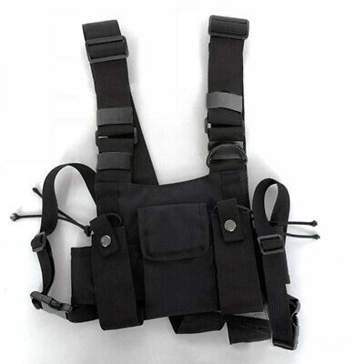 Holster Vest Rig Pocket Radio Walkie Talkie Chest Harness For Survival Rescue
