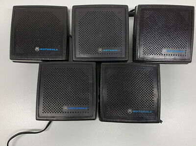 LOT OF 5 Motorola HSN4018 A B C 4005A External Speakers two-way radio NO CLIP