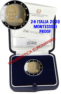 Prevendita - 2 Euro Italia 2020 Montessori Proof In Confanetto Originale Zecca!!