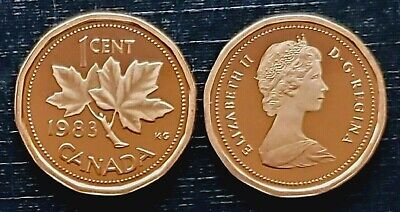Canada 1983 Proof Gem UNC Small Cent Penny!!