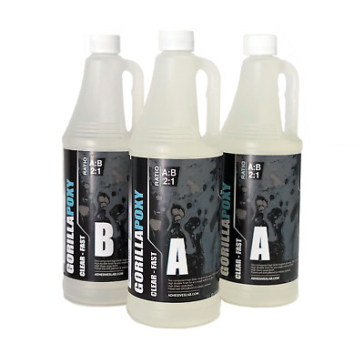 GORILLA-CLEAR-FAST - CLEAR - EPOXY RESIN - Non-Toxic - Ultra Super Gloss Coating