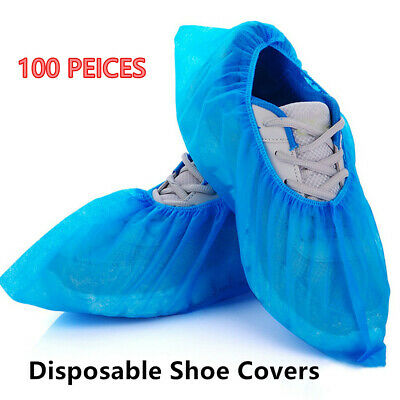 Non-woven Fabric Elastic Dustproof Disposable Shoe Covers Boot Covers Overshoes