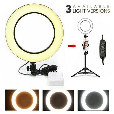 16cm Dimmable LED SMD Ring Light Mini Selfie Makeup Live Round Fill Lamp su