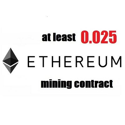 at least 0.03 Ethereum (ETH) 3 hours Cryptocurrency mining contract