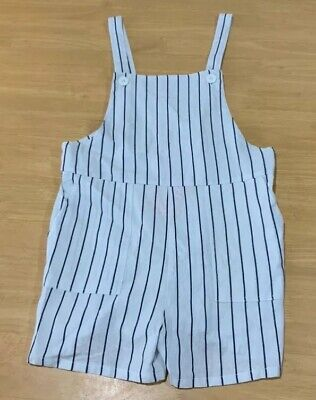 Girls size 16  MOSSIMO white navy stripe summer PLAYSUIT  play suit  NEW