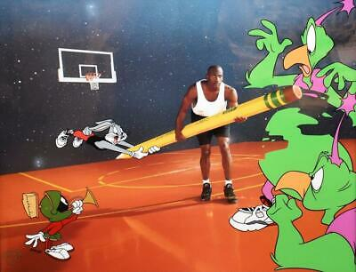 Warners Limited Edition Cel Space Erase Bugs Bunny Marvin Martian Michael Jordan