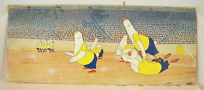 Warner Bros. Animalympics 1980's Panoramic Production Cel with Master Background
