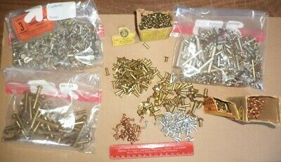 Lot 5 1/2 Pounds Vintage Brass Aluminum Copper Rivets American Made Heavy Duty